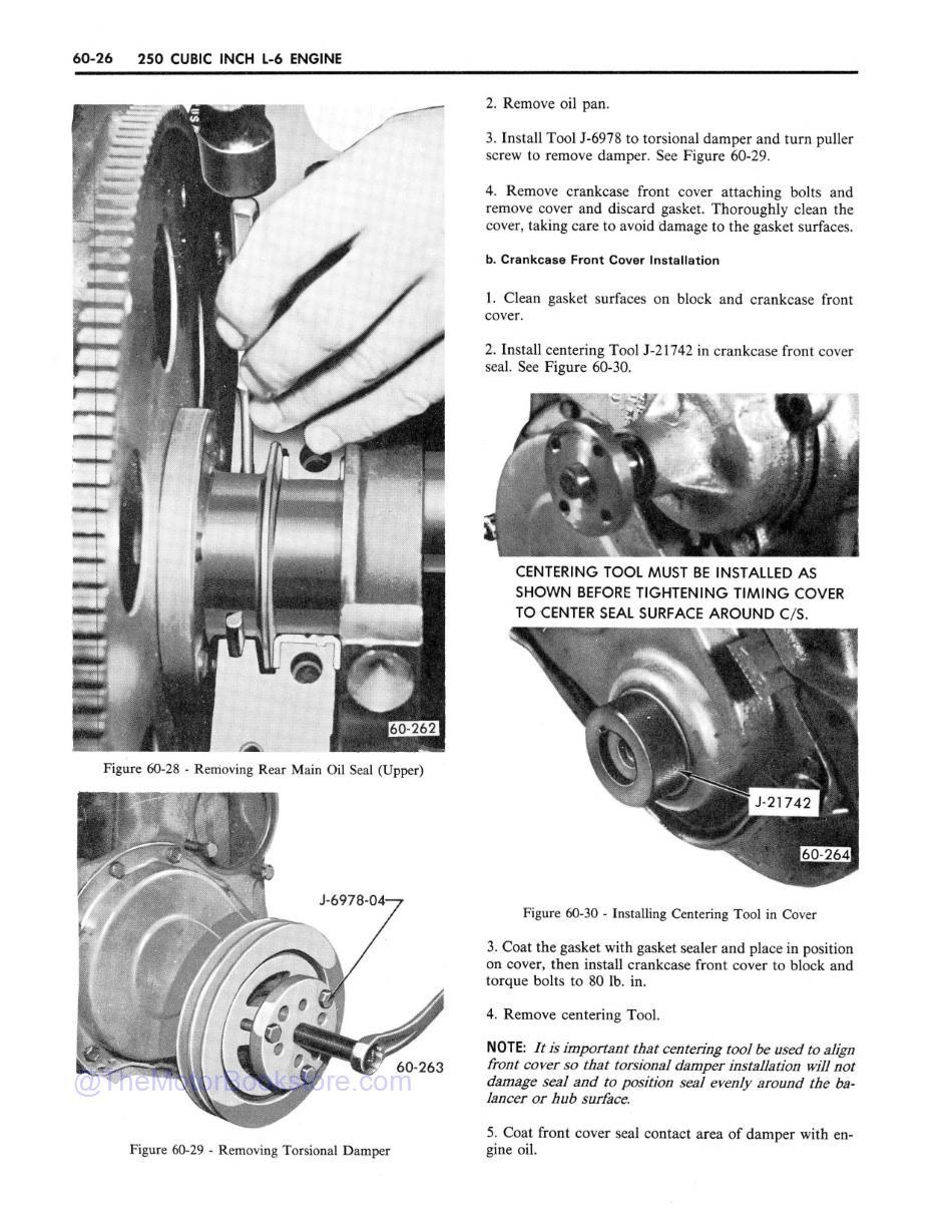 1971 Buick Chassis Service Manual (All Series) Sample Page 1 - Engine Section