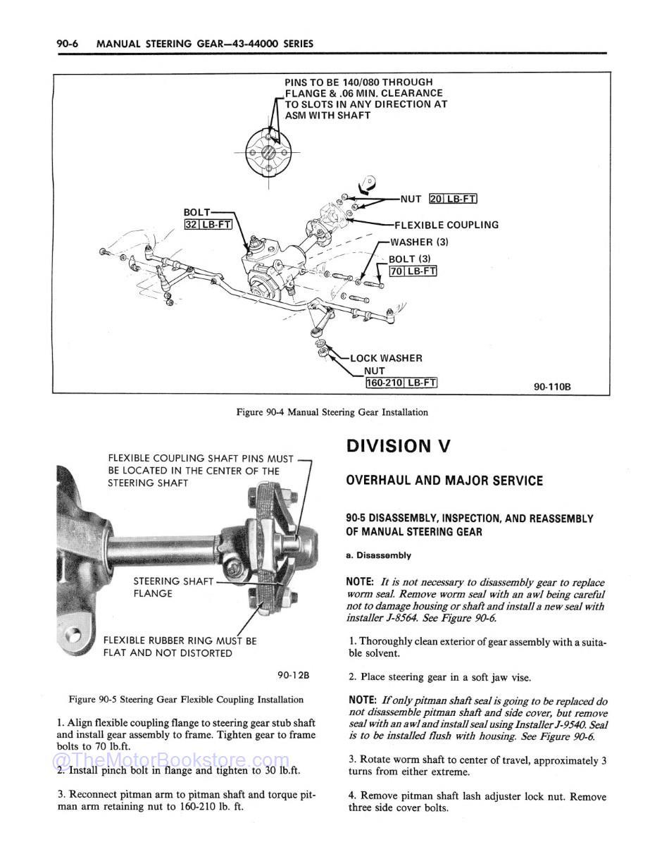 1971 Buick Chassis Service Manual (All Series) Sample Page 2 - Steering Gear Overhaul