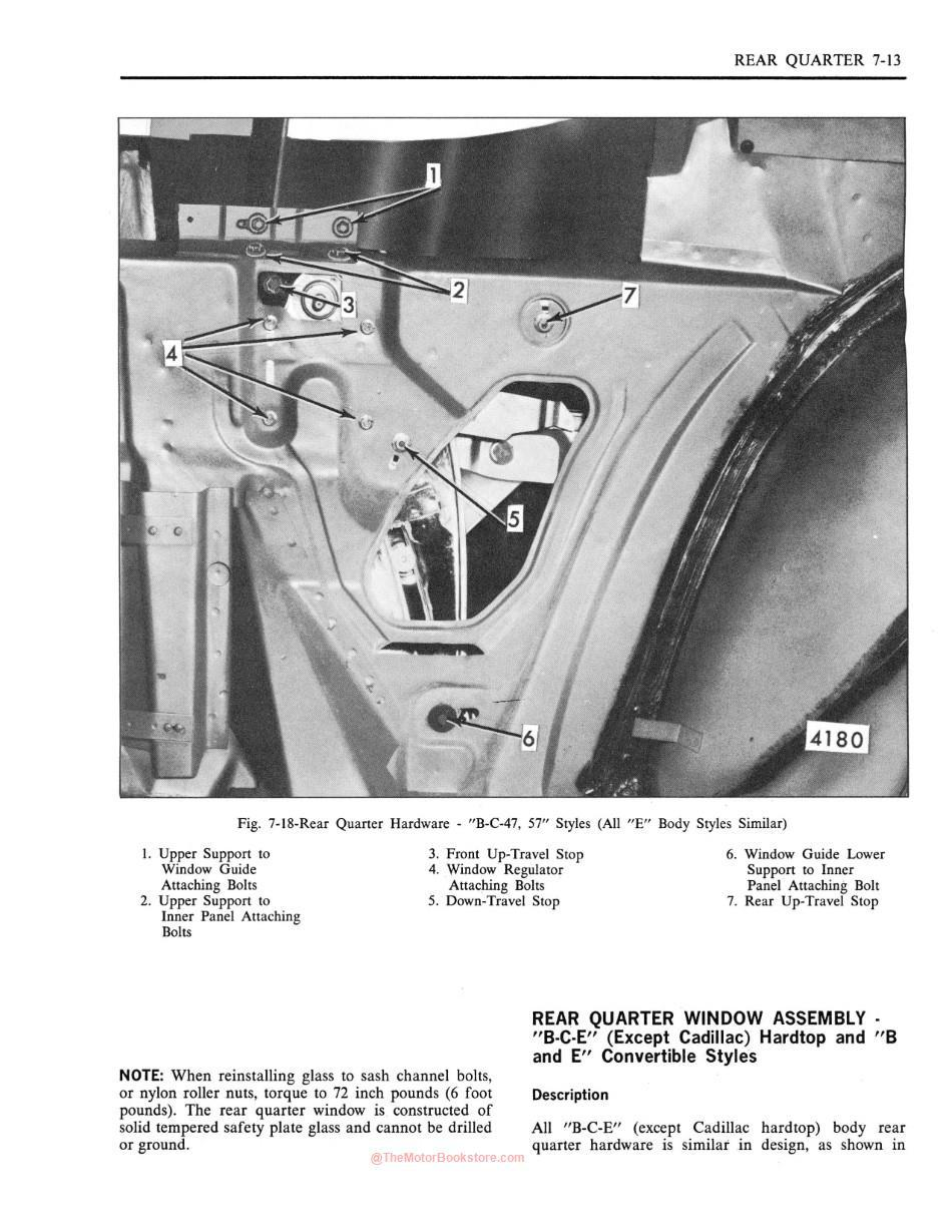 1971 Fisher Body Shop Manual Sample Page - Rear Quarter Section