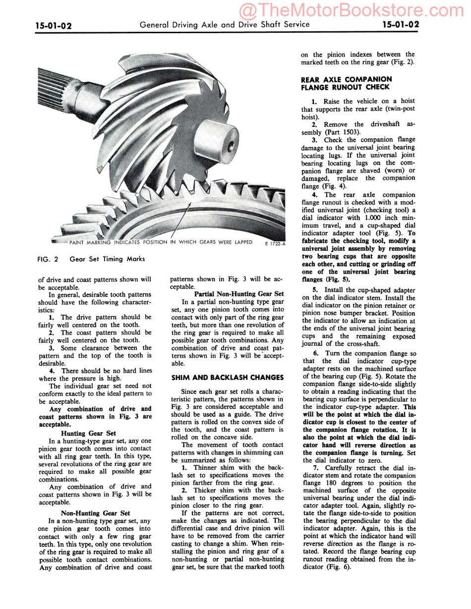 1971 Ford Pinto Shop Manual Sample Page - Driving Axle