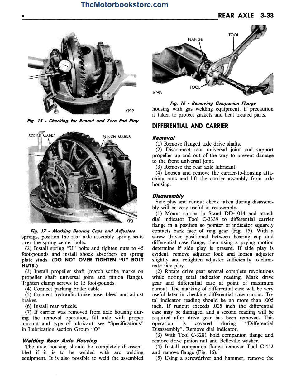 1972 Plymouth Chrysler Imperial Shop Manual Sample Page - Rear Axle