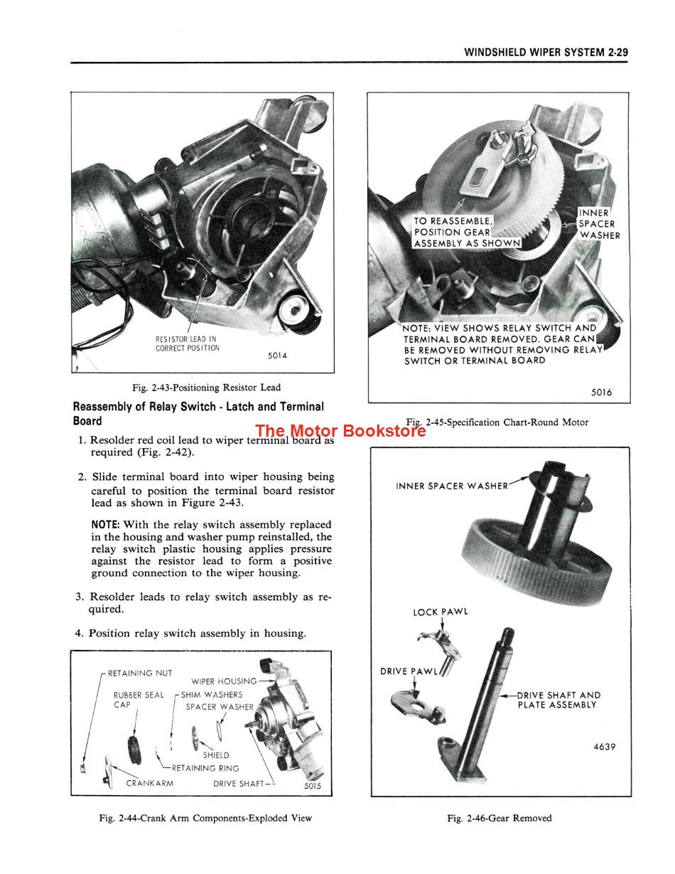 1973 Fisher Body Shop Manual Sample Page - Windshield Wiper System
