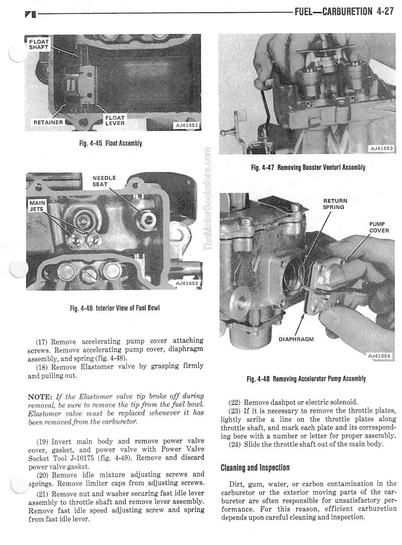 1976 Jeep Factory Service Manual - Carburetor Sample Page