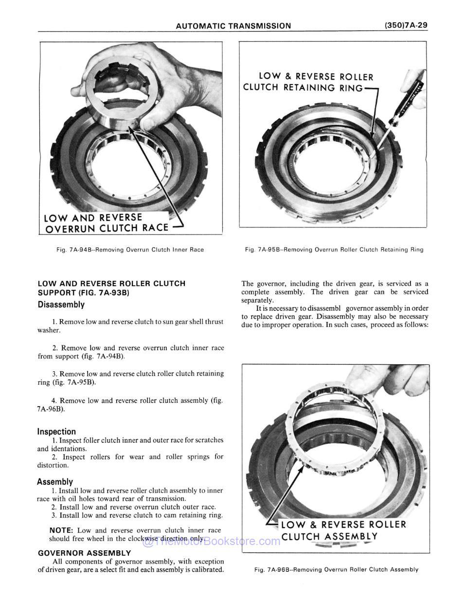1977 Chevrolet Car / Truck Unit Repair Manual Sample Page - Automatic Transmission Governor Assembly