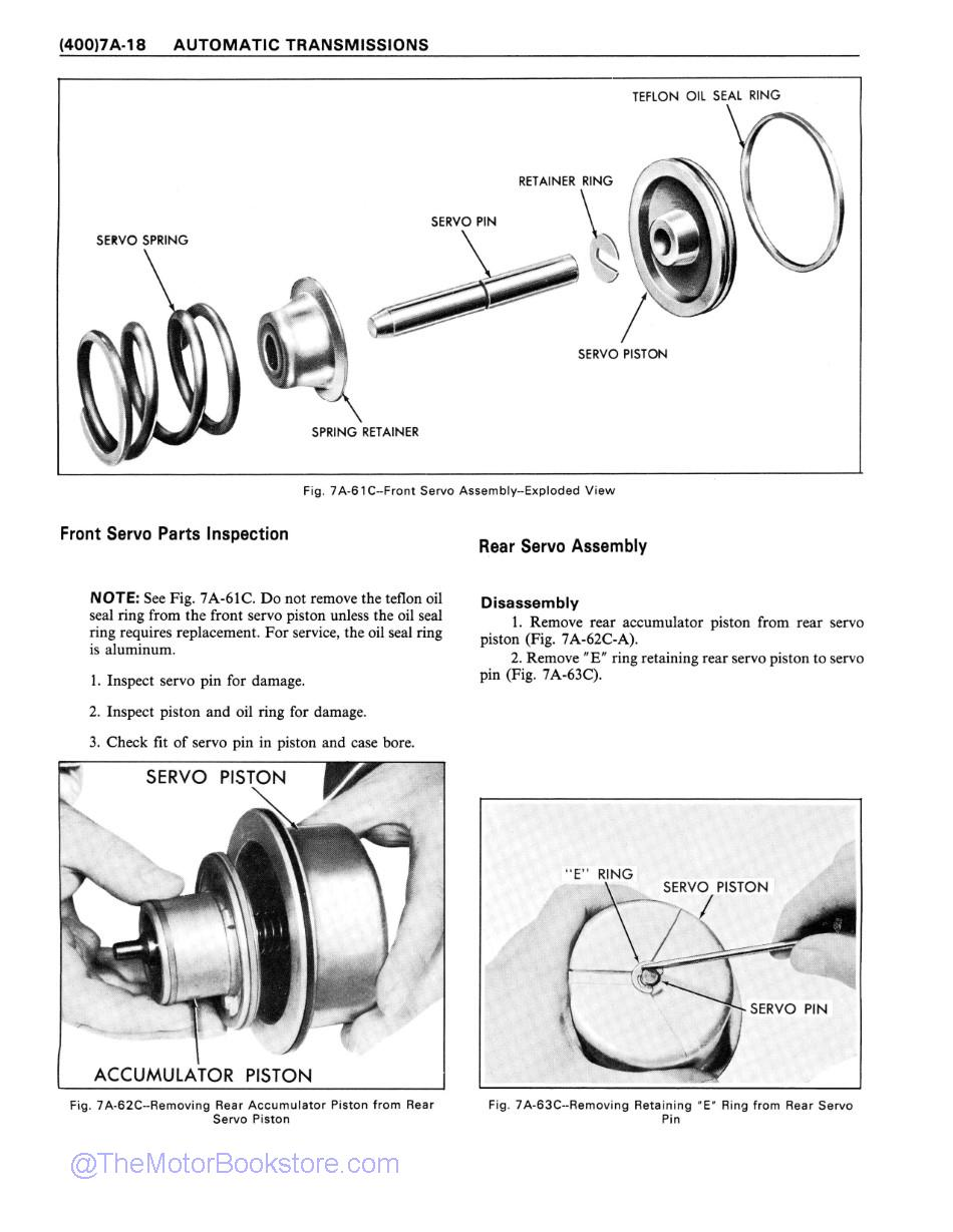1978 Chevrolet Car Truck Unit Repair Manual Sample Page 1 - Automatic Transmissions