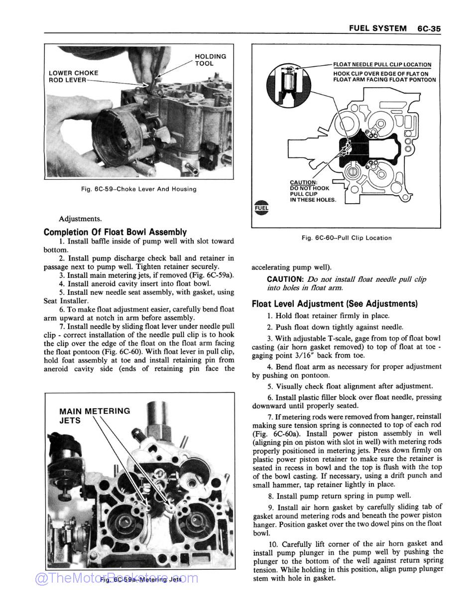 1978 Chevrolet Service Manual Sample Page 1 - Fuel System