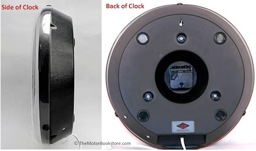 Side and Back Views for the 1950s Chevy Bel Air Lighted Clocks