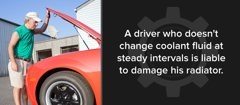 not changing coolant makes drivers liable for radiator damage