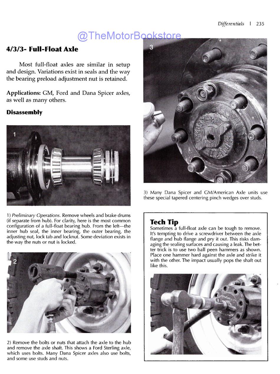 Differentials: Identification, Restoration & Repair Sample Page - Full-Float Axle Disassembly