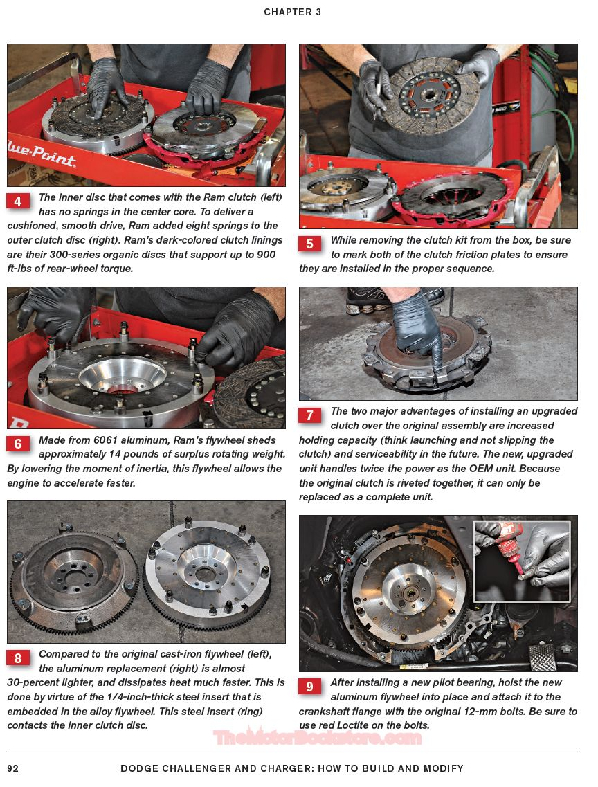 Dodge Challenger and Charger Install Performance Clutches Sample Page