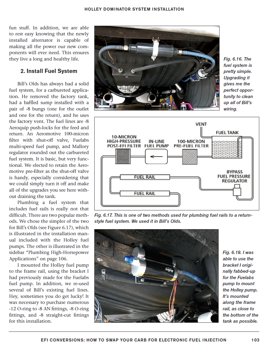EFI Conversions: How to Swap Your Carb for Electronic Fuel Injection Sample Page - Install Fuel System  - SA261