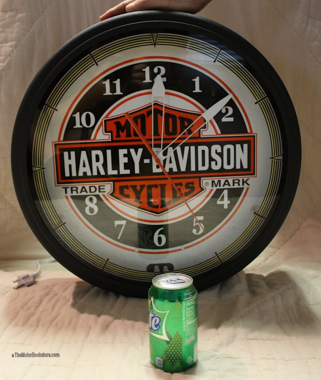 Harley Davidson Neon Clock HDL-16625 - Front View
