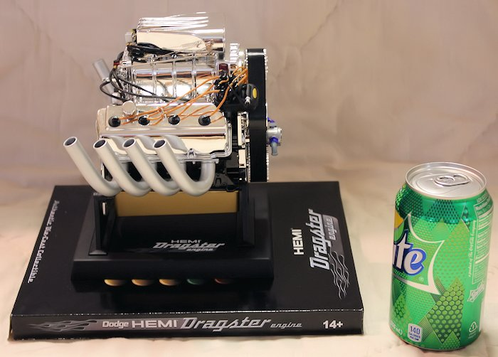 Hemi Dragster Engine Die-Cast - Side View