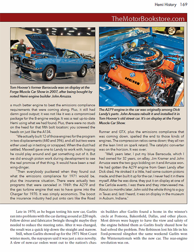 HEMI: A History of Chrysler's Iconic V8 In Competition - Sample Page � CT537