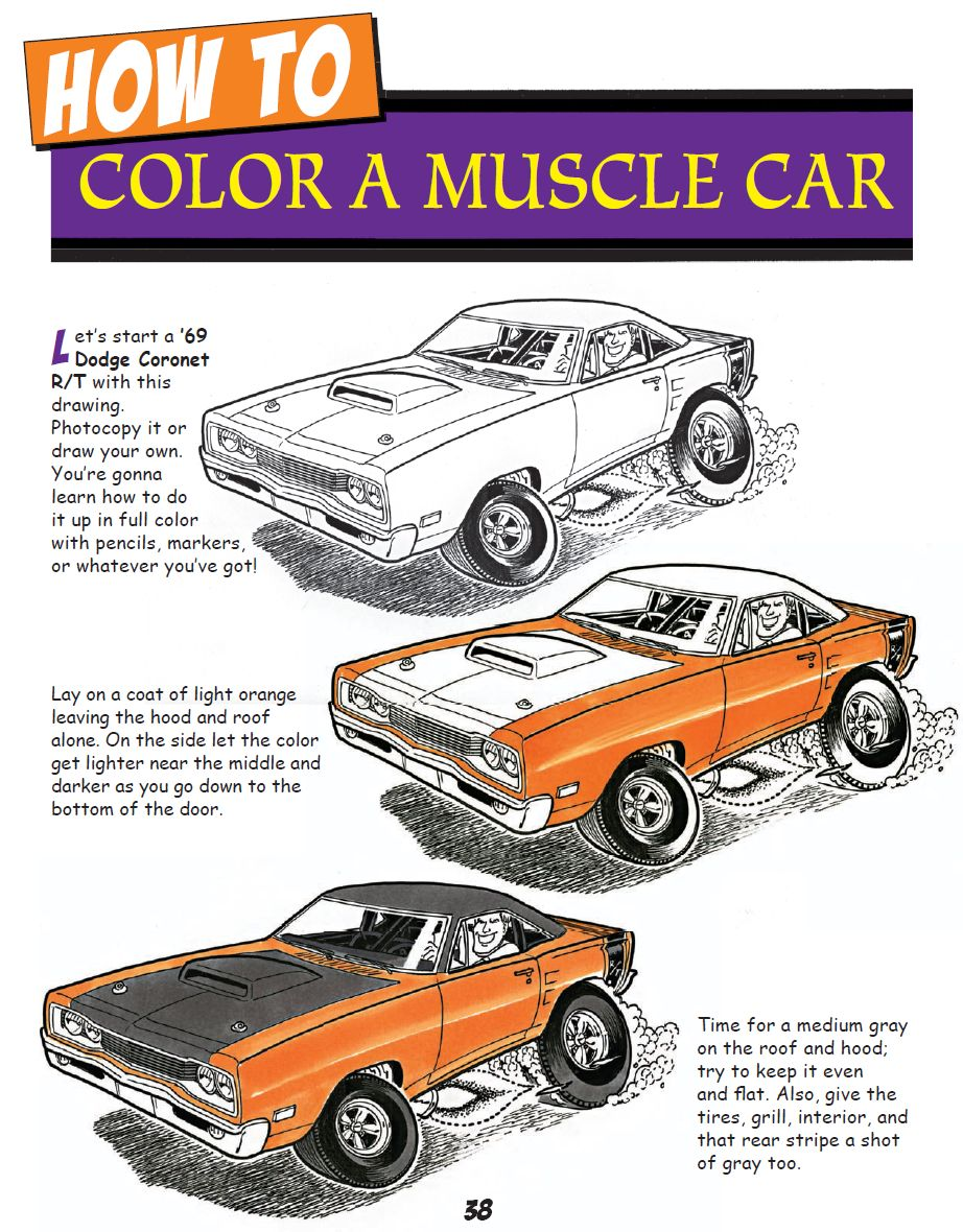 Trosley's How to Draw Cartoon Cars - Sample Page - CT557