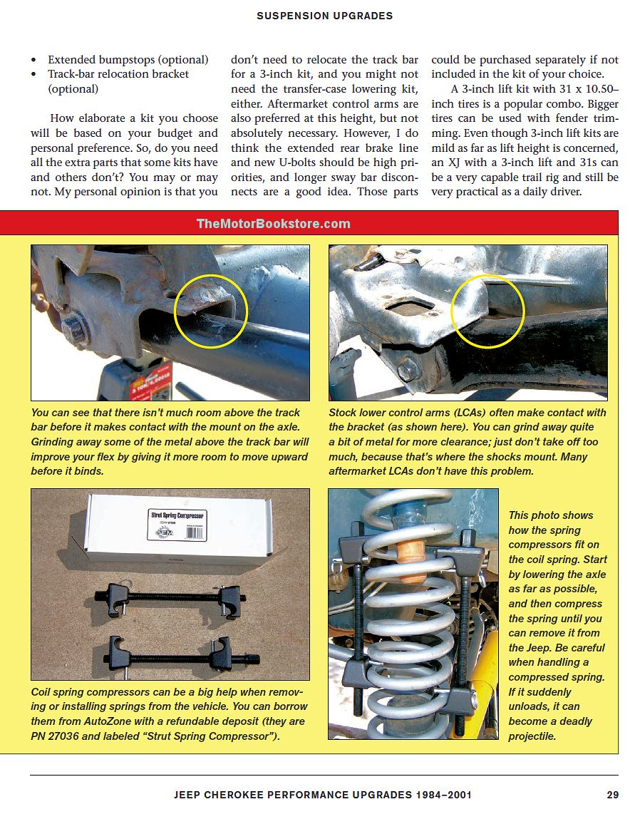 Jeep Cherokee Performance Upgrades Sample Page - SA109
