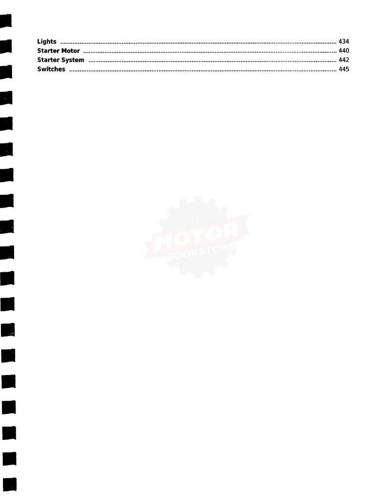 KYMCO UXV 450i 4X4 Side X Side Service Manual - Table of Contents 3
