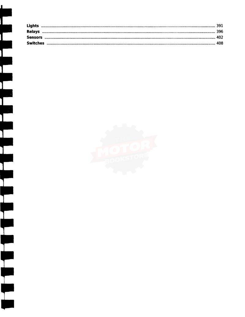 KYMCO Xciting 400i / ABS Scooter Service Manual 2018+ - Table of Contents 3