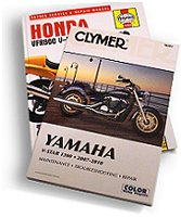 Motorcycle Manuals by Clymer and Haynes