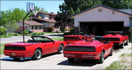 1983, 84, 92 and 2002 Trans Am Convertibles