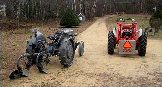 Restored 1944 Ford 2N and 1952 Ford 8N