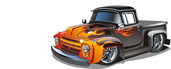 Custom classic pickup truck drawing