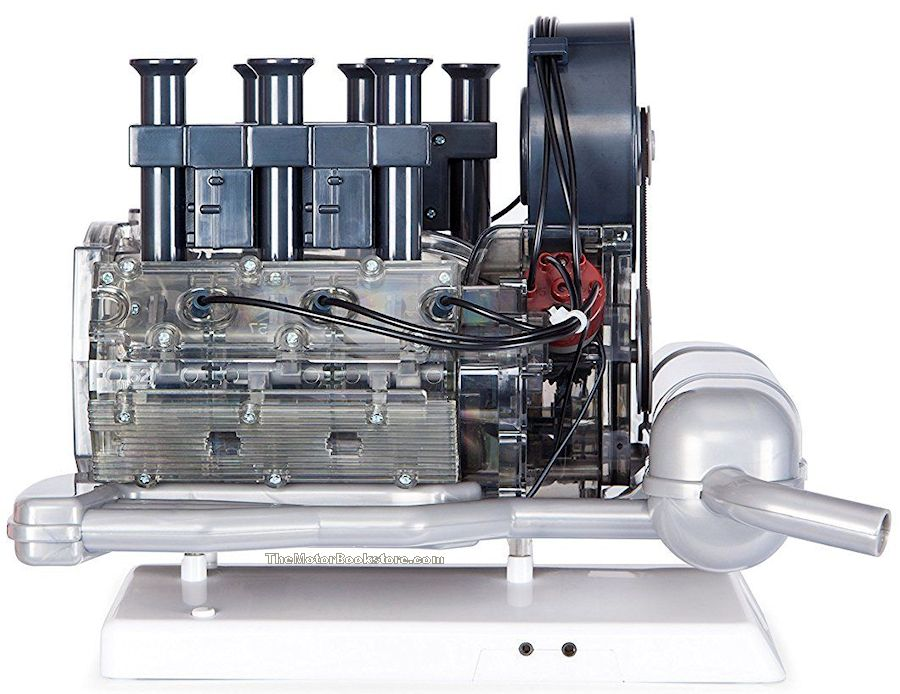 Porsche 911 Boxer Engine Model Opposite Sideview