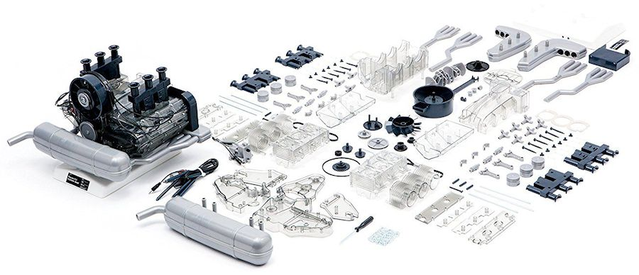 Porsche 911 Boxer Engine Model Pieces