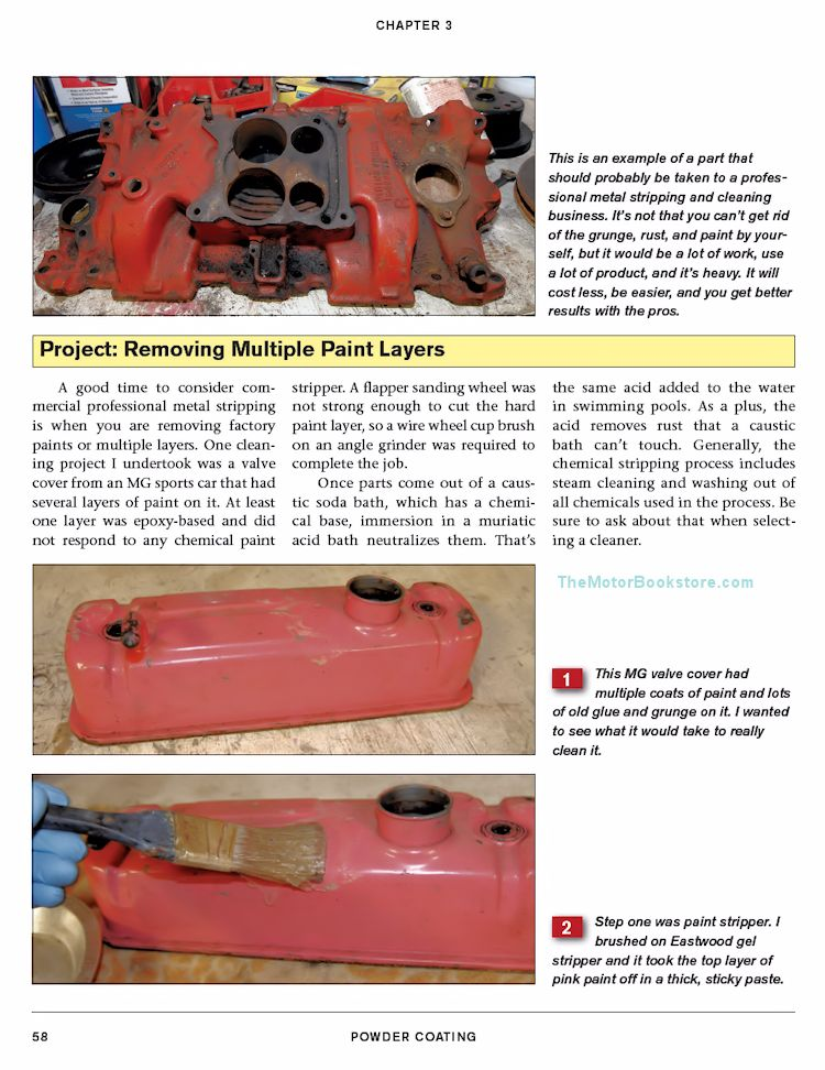 Powder Coating How-to Guide - Removing Paint Layers Sample Page  - SA296