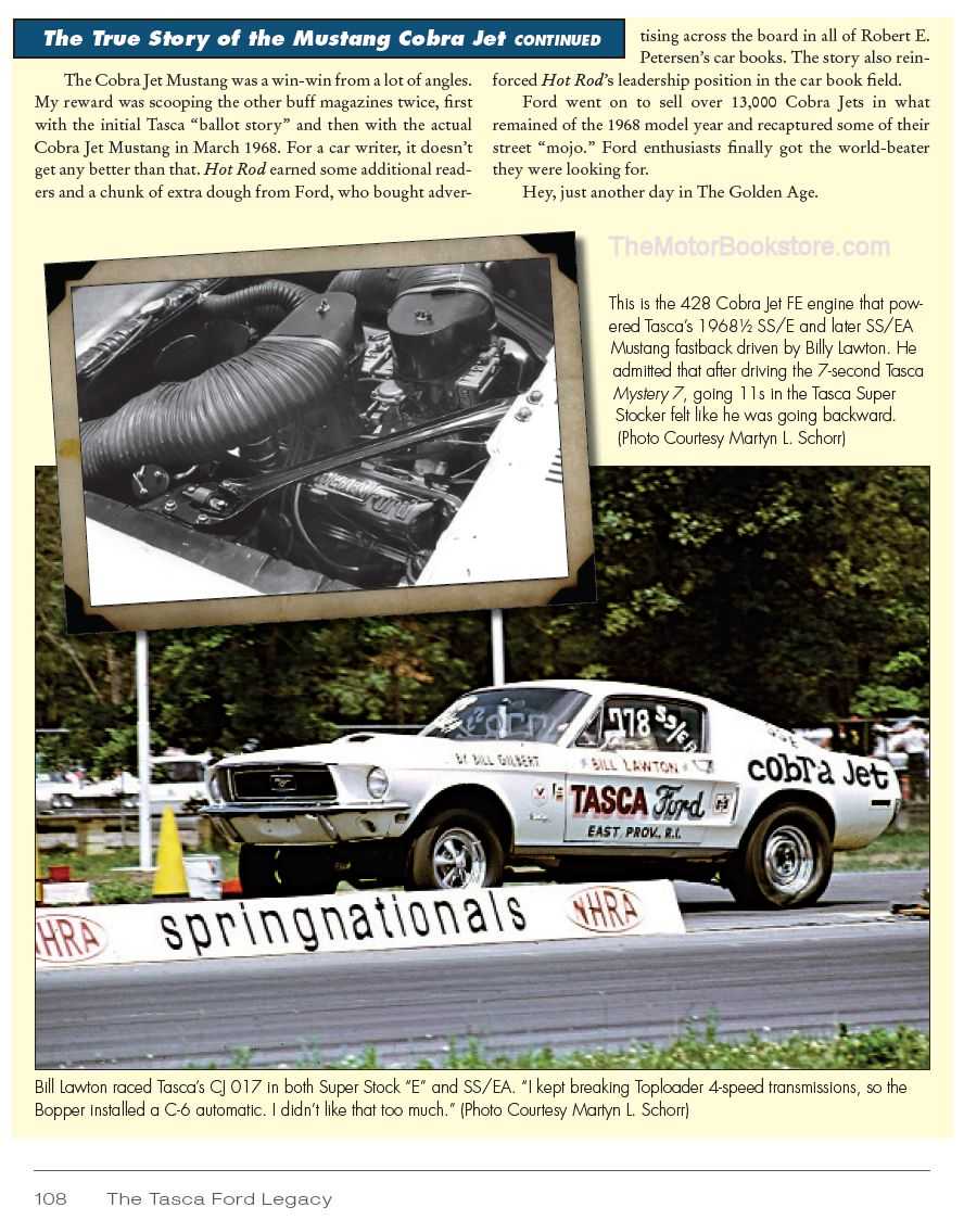 Tasca Ford Legacy - Mustang Cobra Jet Sample Page - CT526
