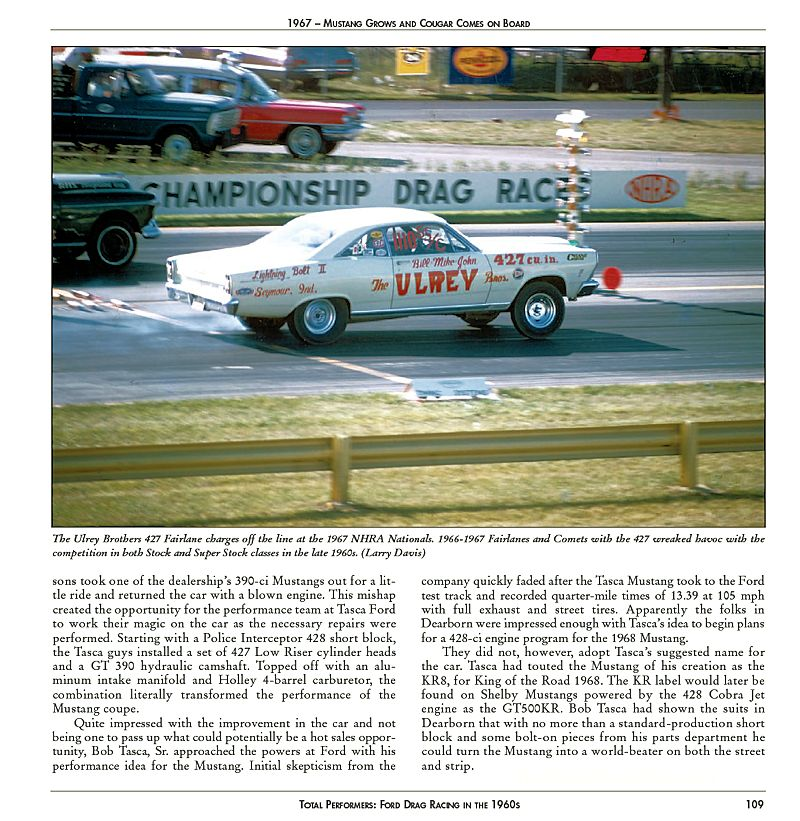 Total Performers: Ford Drag Racing in the 1960s - Sample Page � CT554