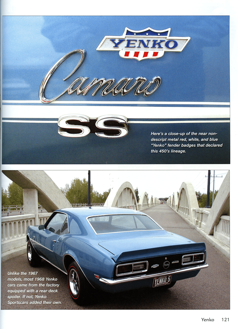 Yenko: The Man, The Machines, The Legend Sample Page - Camaro SS - CT522