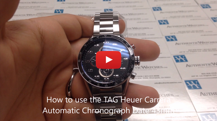 how to use the TAG Heuer Carrera Automatic Chronograph Date 43mm