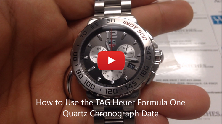 hoe to use the TAG Heuer Formula One Quartz Chronograph Date