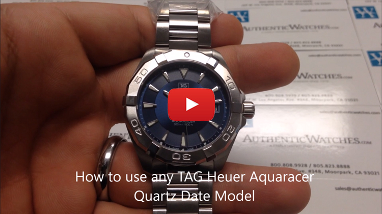 how to use any TAG Heuer Aquaracer Quartz Date Model