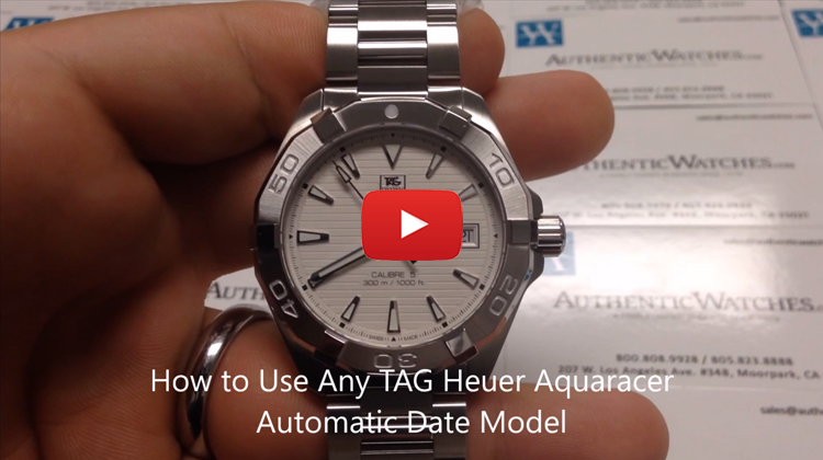 how to use any TAG Heuer Aquaracer Automatic Date Model