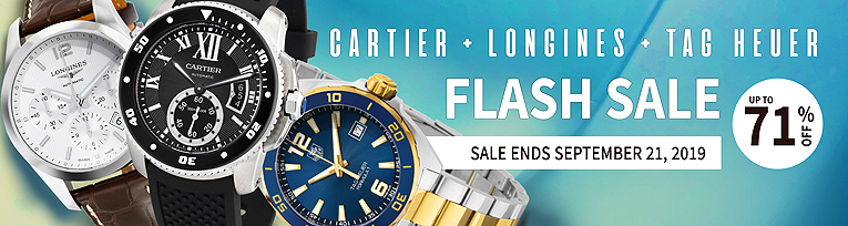 Flash Sale: Tag Heuer, Longines & Cartier Watches