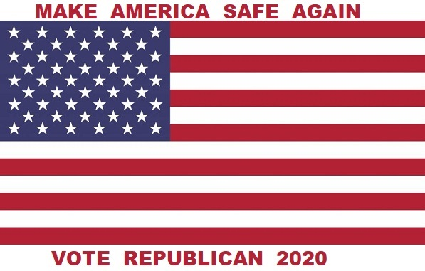 MAKE AMERICA SAFE AGAIN<br>VOTE REPUBLICAN 2020