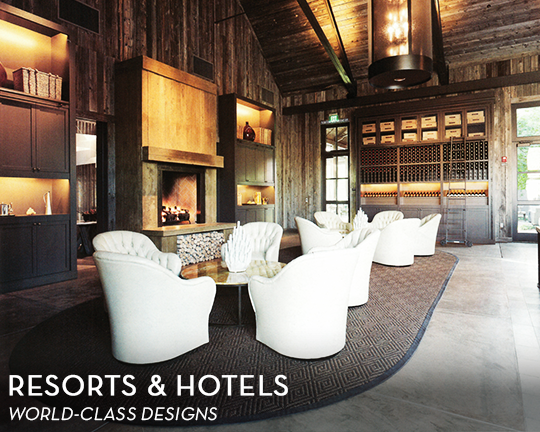 We do world class decor for Hotels & Resorts!