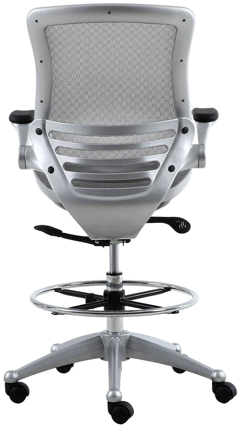 Harwick Evolve Heavy Duty Mesh Drafting Chair Platinum