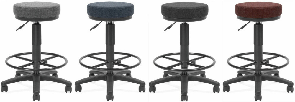 OFM Backless Office Stool with Drafting Foot Rest 902DK Free