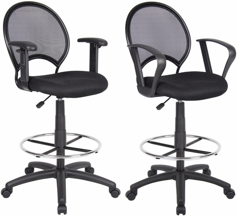 Boss Mesh Back Drafting Stool With 25 29 Inch Seat Height