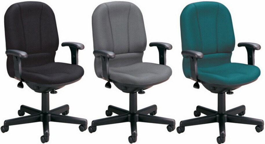 OFM Office Computer Chair With Contoured Back And Seat - Office computer chairs