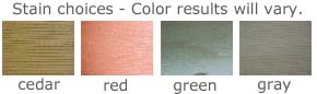 Stain color choices
