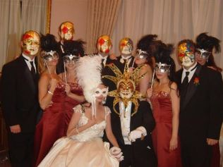 Masquerade Wedding Party Image