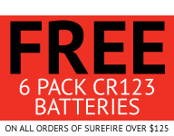 SureFire Set of 4 123A Lithium Batteries