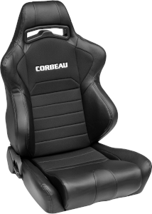 Corbeau LG1 Racing Seat WIDE Black Cloth 25501W (+$80)