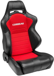 Corbeau LG1 Racing Seat Black/Red Cloth 25507