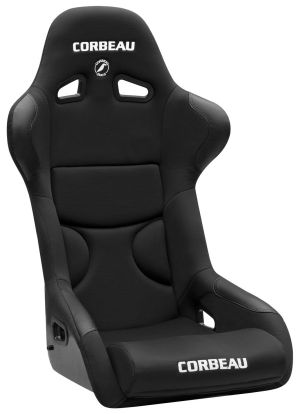 Corbeau FX1 Racing Seat WIDE Black Cloth w/Black Inserts 29501W (+$40)