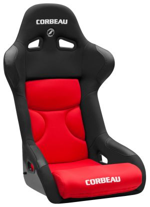Corbeau FX1 Racing Seat Black Cloth w/Red Inserts 29507